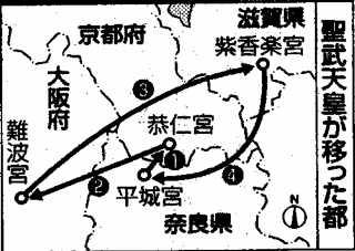 聖武天皇の遷都図