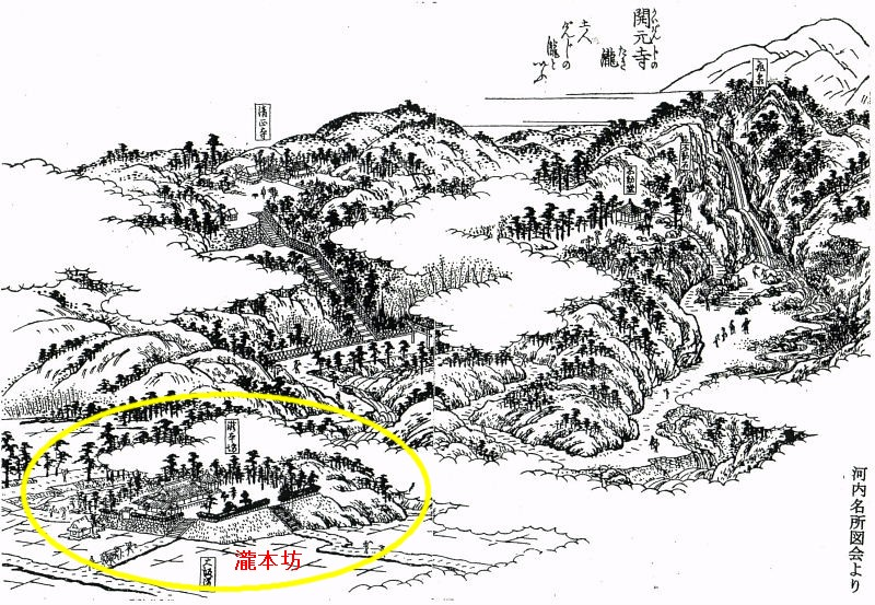 河内名所図絵の「源氏の滝」の ...